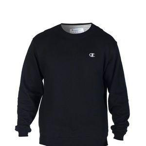 Champion Black Oversized Crew Neck Sweatshirt